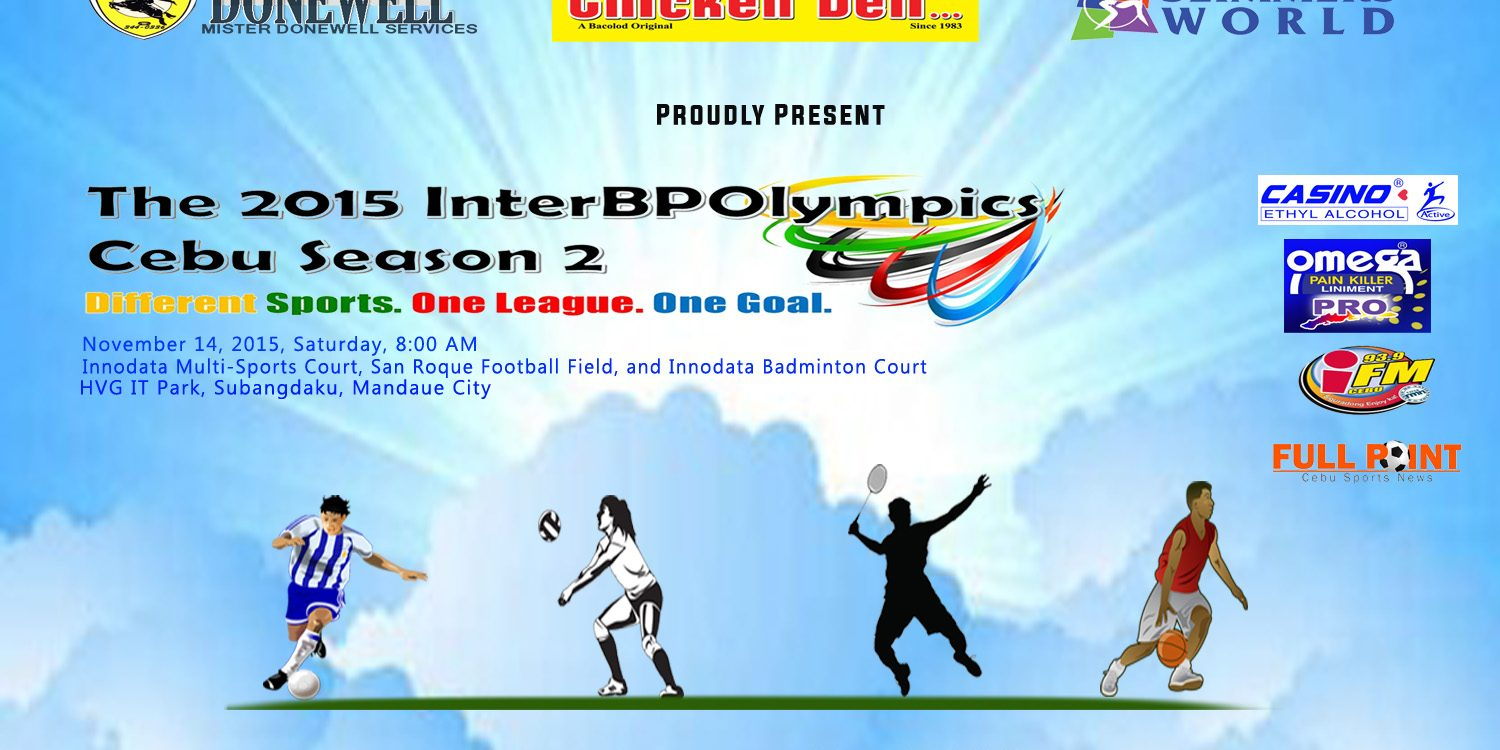 Inter BPOlympics Cebu Season 2 kicks off this Saturday