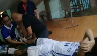 CESAFI Basketball: Magis Eagles' Velasco breaks leg in game vs DBTC Greywolves